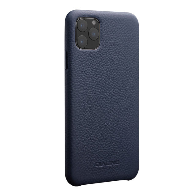 QIALINO Luxury Genuine Leather Phone Cover for Apple iPhone11 Pro Max 6.5 inch Stylish Ultra Light Back Case for iPhone 11/11Pro