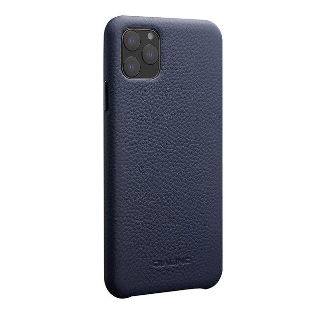 QIALINO יוקרה אמיתי עור טלפון כיסוי עבור אפל iPhone11 פרו מקסימום 6.5 אינץ אופנתי קל במיוחד בחזרה מקרה עבור iPhone 11 /11Pro