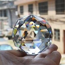Фотография Многогранный хрустальный шар фэн-шуй пресс-папье декоративный стеклянный шар блестящие подарки на день рождения для девочки украшение дома