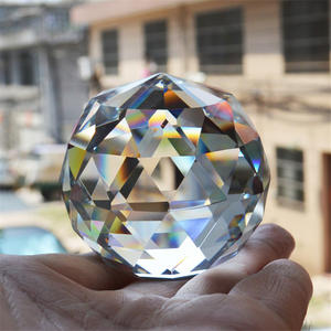 New Photography Faceted Crystal Ball Feng Shui Paperweight Decorative Glass Ball Shiny Birthday Gifts for Girl Home Decoration