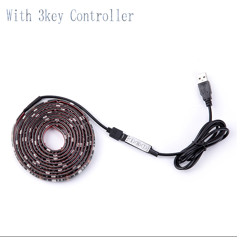 DC 5V Led Light SMD 5050 RGB For TV Backlight 1 - 5 M 60LEDs/m 5 V Led Strip Lights With Mini 3 Key Controller Leds Backlight TV