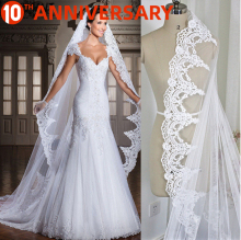 OLLYMURS New 2019 Lace Edge Bride Veil One-Layer 300cm Shoulder Length Veil Wedding Accessories