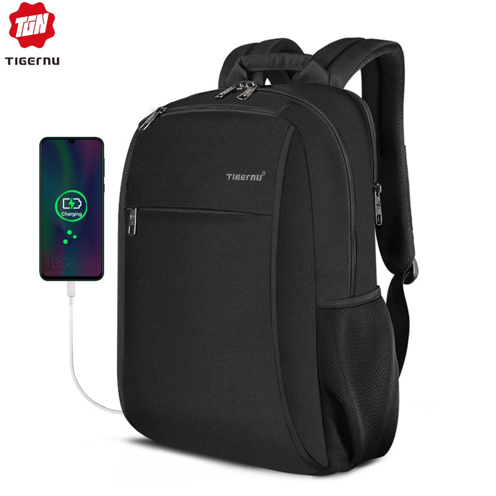 Tigernu ANTI FOULING Backpack Water Resistant With USB Charging For 15.6 Laptop Men Women Mochilas 2019 NEW Leisure Backpacks
