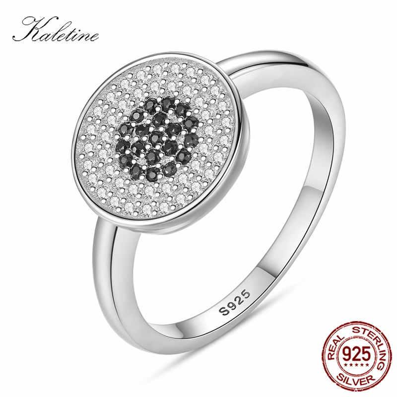 Lucky Hamsa Evil Eye 925 เงินสเตอร์ลิงแหวนเงินผู้หญิงโชคดีหินสีดำสำหรับคู่คนรัก Mens Jewewlry Rose แหวนทอง