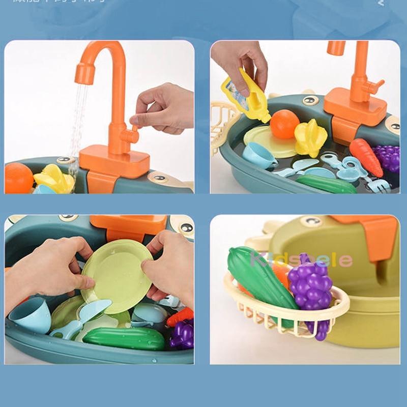 מטבח לילדים עם מים זורמים 5