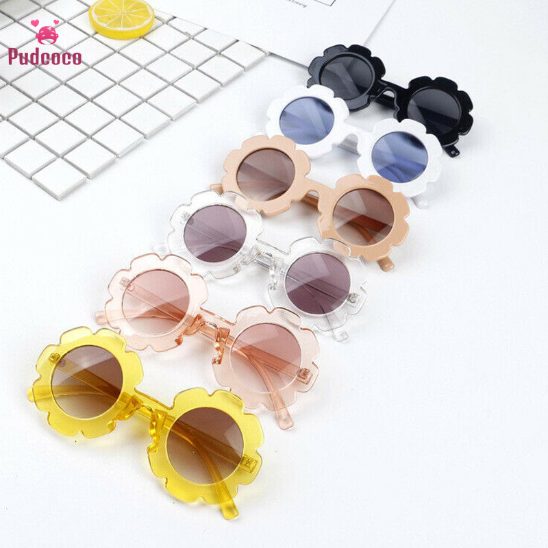 Pudcoco Lovely Protection Glasses UV400 Sunglasses Toddlers Boys Kids Shades Flowers Adorable Kids Gift For Children Wholesale