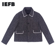 IEFB /men's wear 2021 spring new high quality short style Loose Coat for men and women Single Breasted jacket with pocket 9Y1074