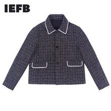 IEFB/erkek giyim 2021 bahar yeni yüksek kalite kısa stil gevşek ceket erkekler ve kadınlar için tek göğüslü ceket ile cep 9Y1074