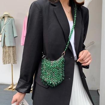 Women Party Metal Crystal Handbags Ladies Evening Shoulder Bag Luxury Design Beaded Handbag Women's Fashion Messenger Bags 2020 цена 2017