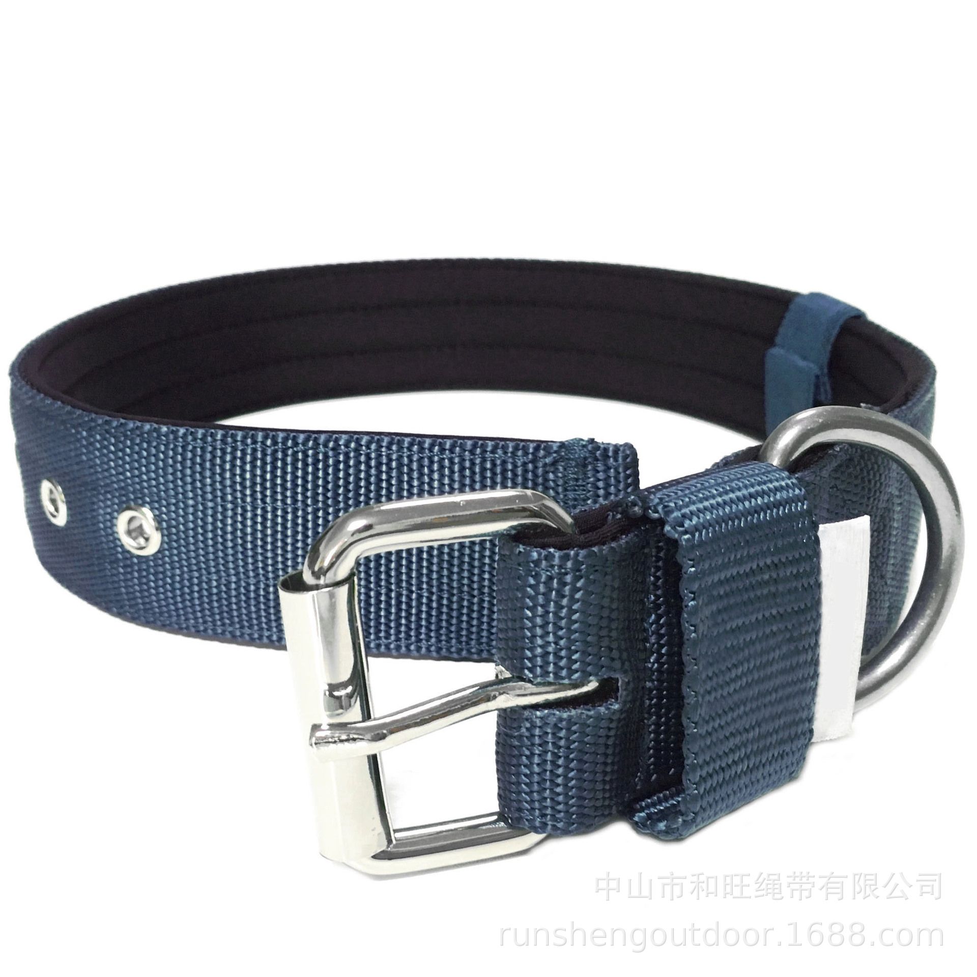Pet Supplies Four Speed Adjustment Large Dog Collar Thick Nylon Tactical Dog Collar Dog Collar