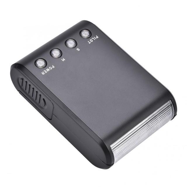 Mini Portatile On Flash della fotocamera Luce Foto Photography Studio di Illuminazione Lampada Stroboscopica Softbox Basamento per Canon Nikon Sony DSLR macchina fotografica