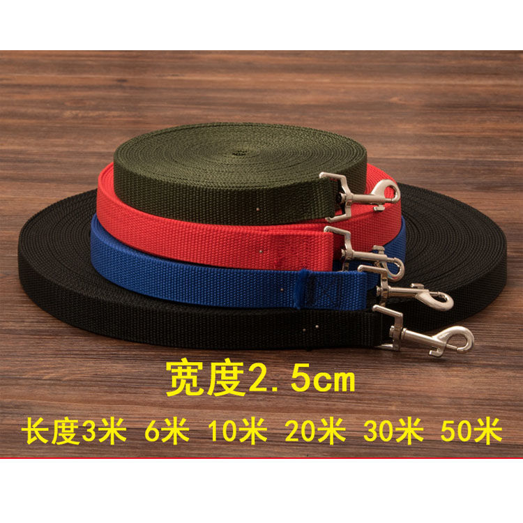 10 M 20 M 30 M 50 M Wide-2.5 Cm Pet Dog Lengthen Hand Holding Rope Leash Dog Leash Training Rope