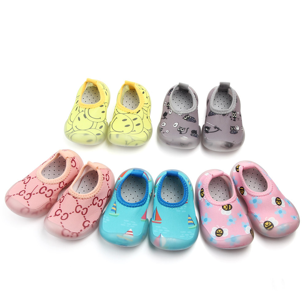 Shallow Mouth Baby Boy Girl Shoes Non-slip Toddler Socks Baby Girl Soft Rubber Sole Floor Socks
