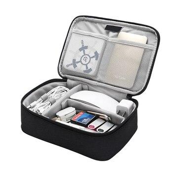 Portable Travel Digital Storage Bag Removable Baffle MouseTablet Charger Organizer Battery U Disk Hard Drive Collect Accessories dj bag palmin u 15