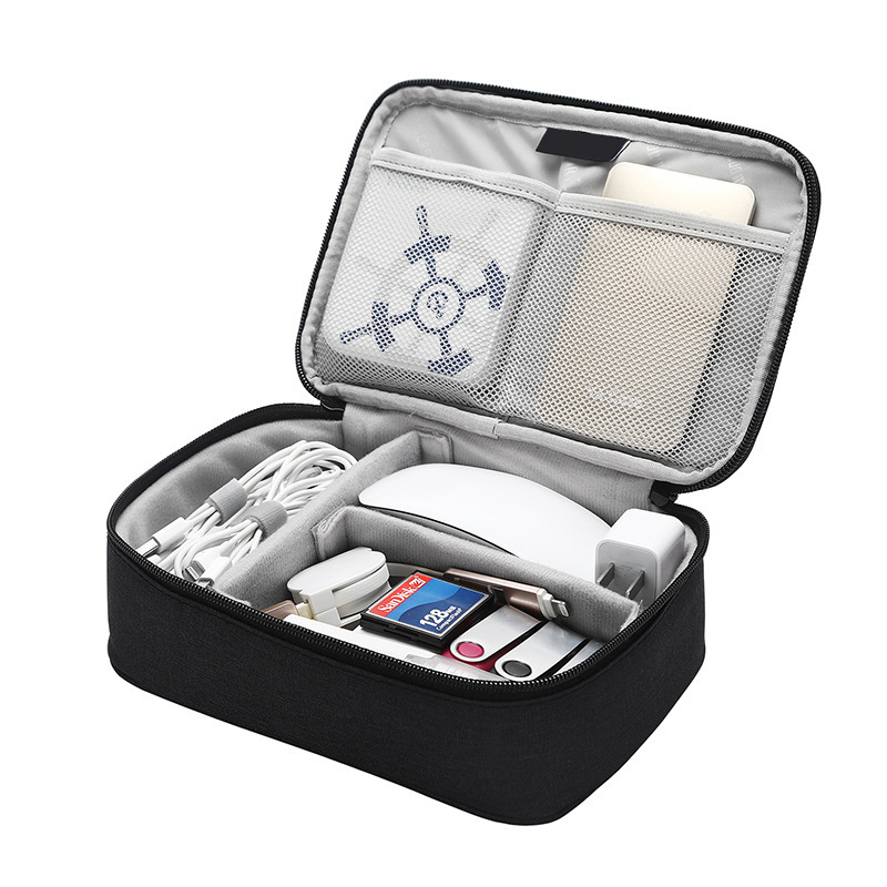 Portable Travel Digital Storage Bag Removable Baffle MouseTablet Charger Organizer Battery U Disk Hard Drive Collect Accessories