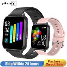 2020 akıllı saat erkekler kadınlar kalp hızı kan basıncı monitörü su geçirmez spor Smartwatch saatler akıllı saat IOS Android için