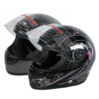 DOT Motorcycle Helmet Adult Flip Up Full Face Carbon Fiber Pink Black Butterfly Street Bike Sport Helmets Motocross S M L XL 1