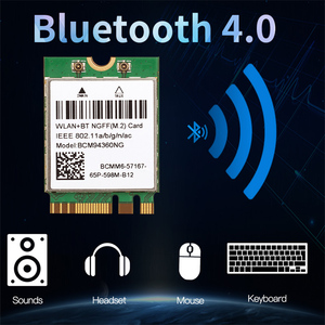 Hackintosh macOS Broadcom BCM94360NG M.2 Wifi Card Than DW1560 BCM94352Z BCM94360CS2 Wireless 802.11ac Dual band 1200Mbps BT4.0