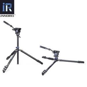 Image 5 - MT70 Video Camera Statief Snelle Flip Gesp Vloeistof Hoofd Panoramisch Half Bal Kom Monopod Stand Base Voor Digitale Dslr Camcorder