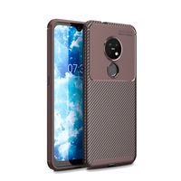 style protective For Nokia 7.2 Case Business Style Silicone Rubber Shell Coque TPU Back Phone Cover For Nokia 7.2 Protective Case For Nokia 7.2 (4)