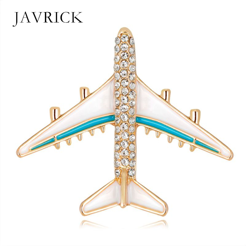Plane Brooch Airplane Enamel Charms Jewelry Party Badge Banquet Scarf Pins Personality Clothes Decoration Birthday Gift image