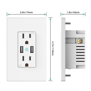 Image 3 - WiFi Smart Wall Socket US Wireless Electric Plug Outlets Touch Panel Control Homekit Duplex Receptacle Work by Alexa Google Home