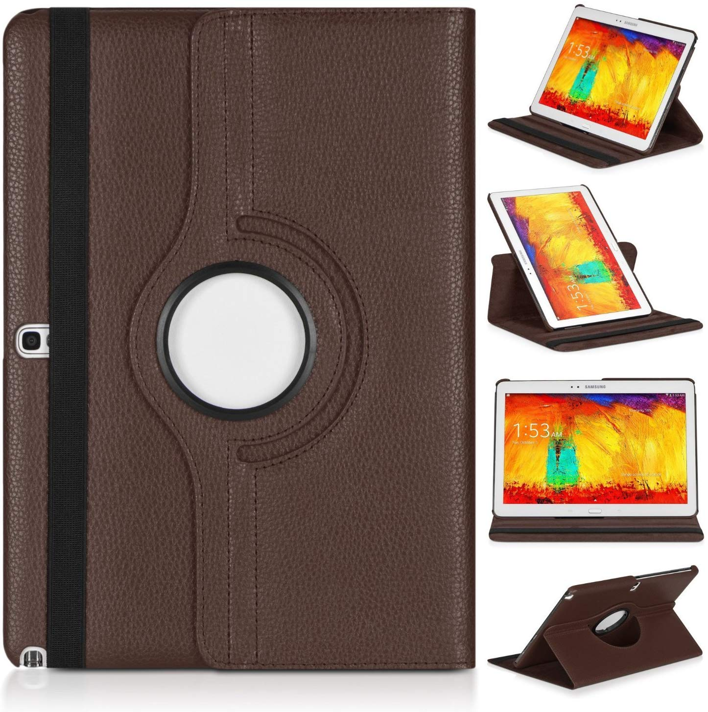 Tablet Shell For Samsung Galaxy Tab Pro 10.1 T520 T525 T521 Note 2014 P600 P601 P605 Case 360 Rotating Bracket Leather Cover