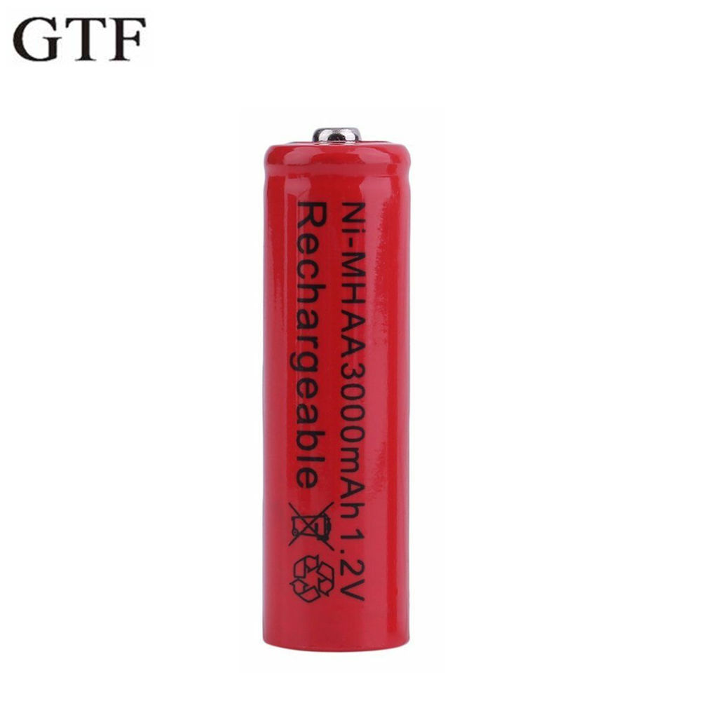 GTF AA 3000mAh 1.2V Battery Ni-MH Rechargeable Battery For Toy Remote Control Rechargeable Batteries AA 1.2v 3000mah Batteries
