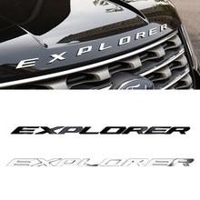 Наклейка на капот EXPLORER, эмблема, значок, наклейка для Ford Explorer 5 2013 2017 2019, наклейки на автомобиль Explorer, наклейки и наклейки для автомобиля