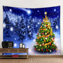 Christmas tapestries, tree series holiday polyester digital print household decorative tapestrie