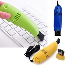 цена на Mini USB Vacuum Keyboard Cleaner Brush Dust Collector for Laptop Computer PC