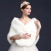 Mulher xale xale de noiva mulher xale elegante casamento cabo nupcial xales inverno branco/marfim envoltório da pele do falso bolero jaquetas de casamento