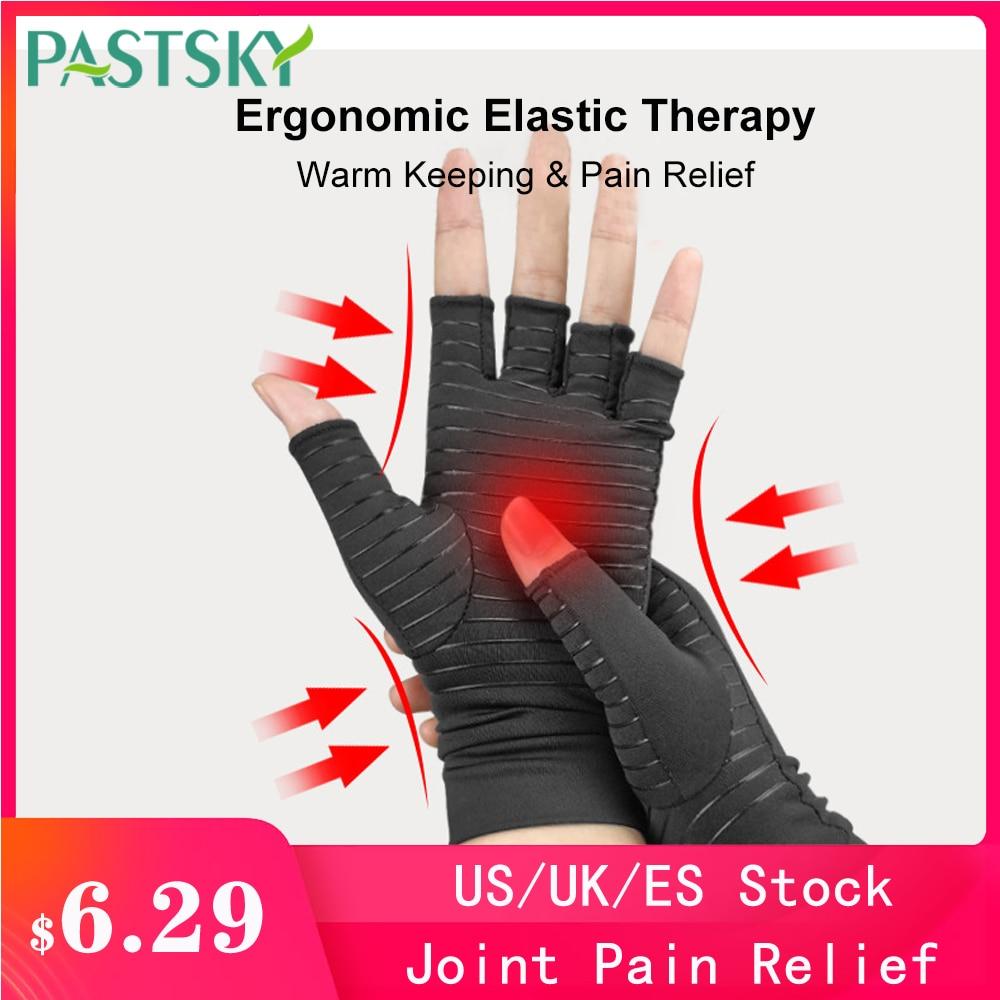 1 paire demi doigt Compression arthrite gants orthèse soulagement de la douleur articulaire poignet soutien anti-dérapant thérapie femmes hommes