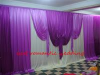 3m by 6m pink theme ice Silk Wedding Backdrop props,drapery for Wedding Curtain Satin Swag Detachable Party Curtain Backdrop
