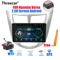2.5D Screen 2din Car Radio Android 8.1 Multimedia Player Navi GPS Player 9 inch For Hyundai solaris verna 2016 2017 autoradio