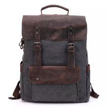 Винтажные холщовые рюкзаки нейтральные ветрозащитные сумки для
