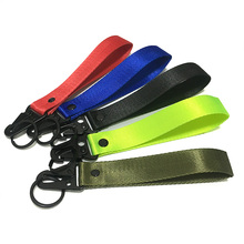 New Hand Wrist Strap with Metal Key Chain Ring Holder Lanyard Tag for Men Women Gifts Cars Motorcycle Gifts Tags Key Fobs Holder
