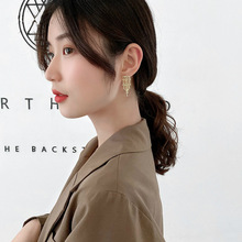 S925 S needle With Tassel Rhinestone Earrings For Female Temperament Retro Simple Fashion Modern Women Jewelry
