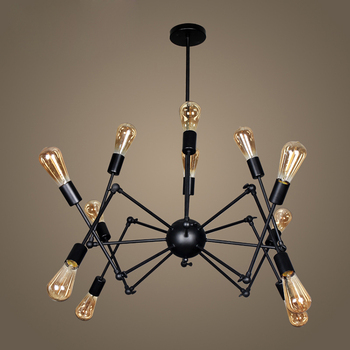Industrial Hanging Spider Lamp Modern Lighting, Adjustable Loft Light For Living Room Shop lampen industrieel