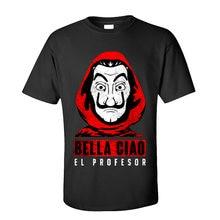 Bella ciao-camisetas de La casa de Papel para hombre, camiseta personalizada de algodón de manga corta con cuello redondo, venta al por mayor