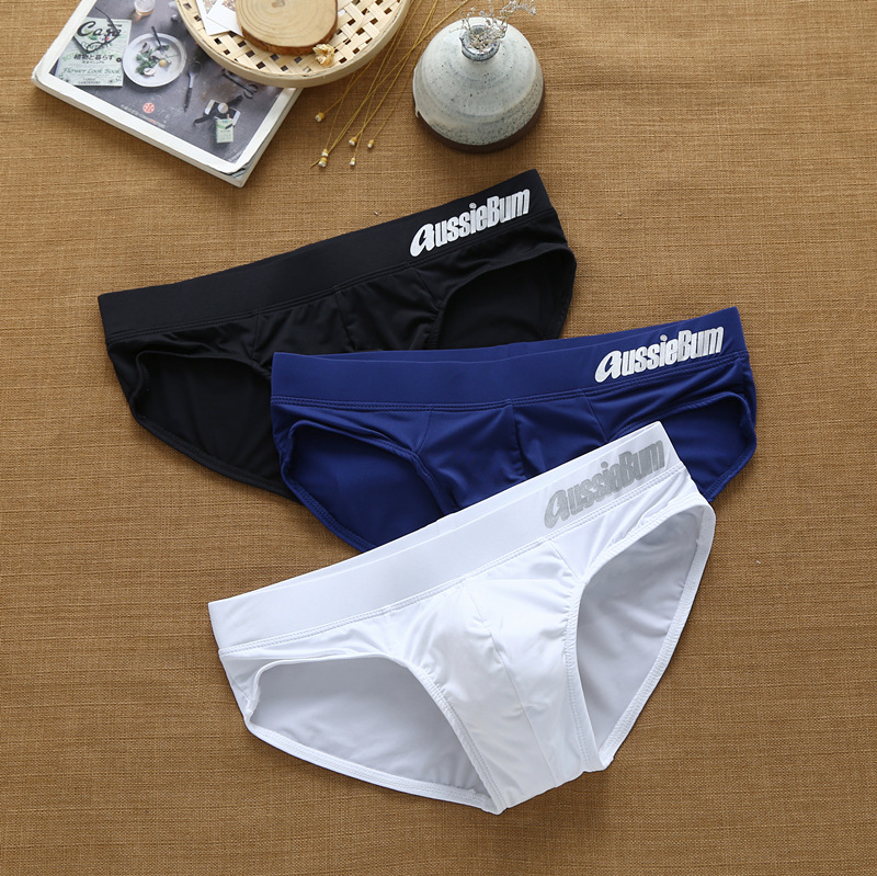 Men's Aussiebum briefs with milk silk low waist stretch stereo bag fit comfortably 2