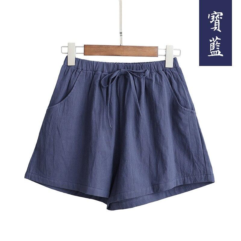 New Hot Summer Casual Cotton Linen Shorts Women Plus Size High Waist Shorts Fashion Short Pants  Streetwear Women's Shorts 8