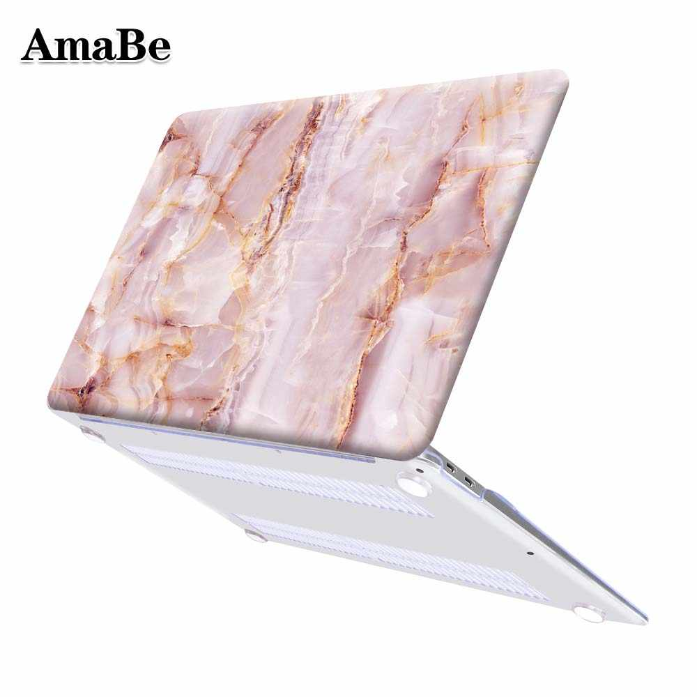 "LAPTOP untuk MACBOOK AIR 13 11 Pro 13 15 Retina A1502 Touch Bar MacBook 12 13 15 ""2019 a1708 A2159 Marmer Cangkang Keras Cover"