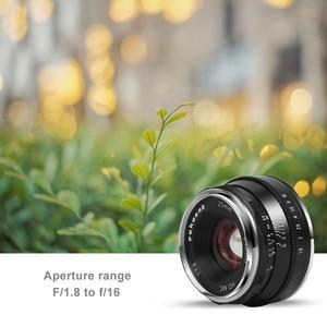Image 4 - Pergear 25 millimetri f1.8 Prime Lens per Tutti I Singoli Series per Sony E Mount per Fuji Mount Micro 4/3 Della Macchina Fotografica a7 A7II A7R A6500 A6300 A6400