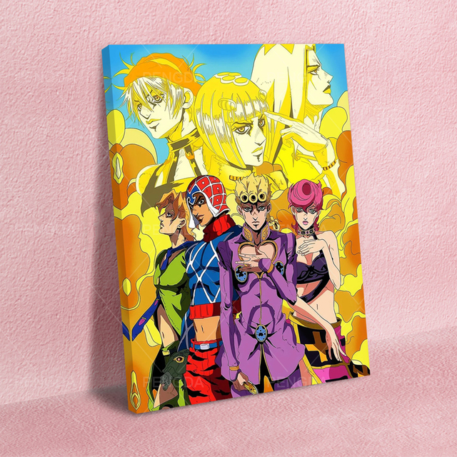Paintings Wall Art Canvas Modular Picture HD JoJo's Bizarre Adventure Print Anime Posters No Frame For Living Room Home Decor 2