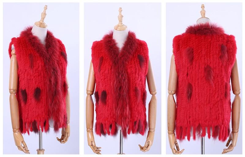 H6326fb3598644723a3b735236698b4adA Brand New Women's Lady Genuine Real Knitted Rabbit Fur Vests tassels Raccoon Fur Trimming Collar Waistcoat Fur Sleeveless Gilet