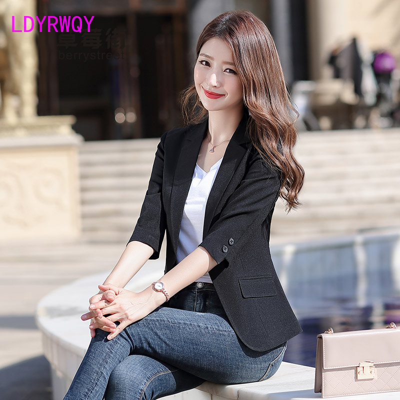 2020 spring new fashion single-piece suit jacket female Korean version of small incense style slimming