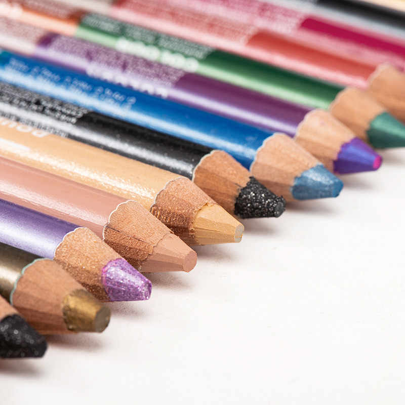 1PC Double Warna Tahan Air Glitter Eyeliner Pensil Berwarna-warni Tahan Lama Eyeshadow Pen Mata Wanita Alat Make Up