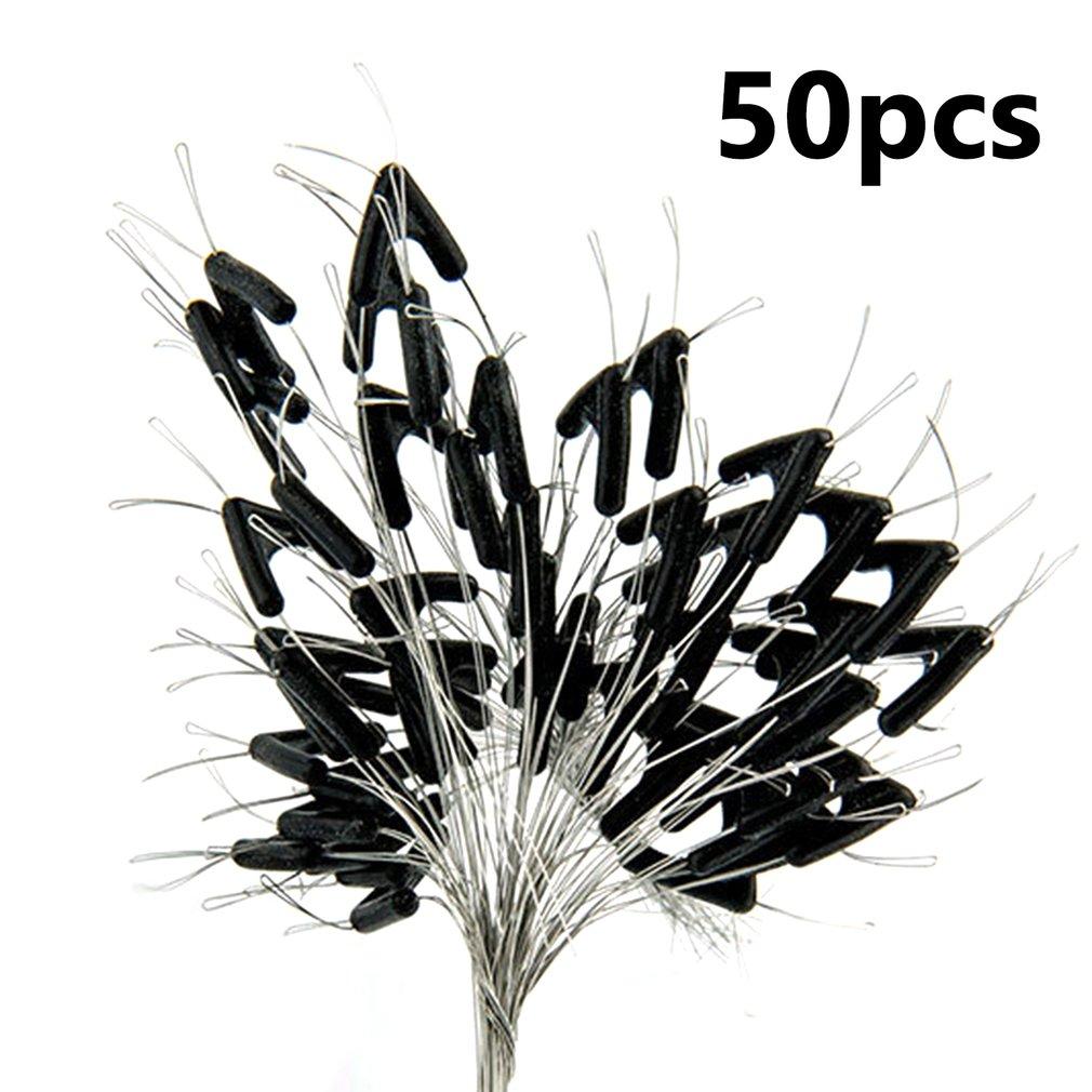 50pcs Double Hooks Contactor Device Fishing Line Space Bifurcation Tying Tool
