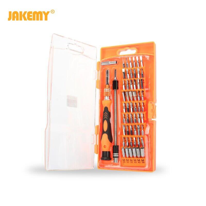 Herramienta de juego de destornilladores 58 en 1 JAKEMY JM-8125 para reparar teléfonos Kit de múltiples bits herramientas de reparación de teléfonos reparación